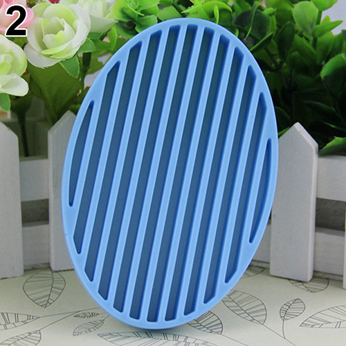 Creative Silicone Flexible Soap Plate Holder Bathroom Toilet Soapbox Soap Dish