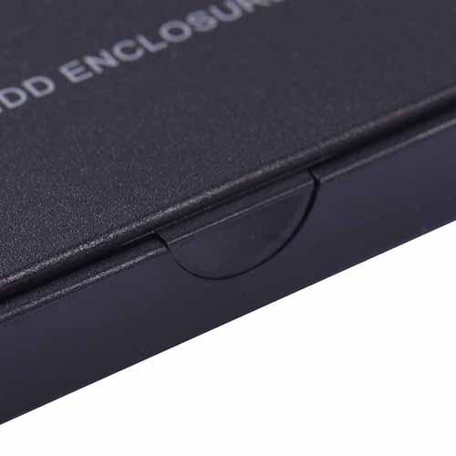 Black USB 2.0 HDD Enclosure SSD Case for 2.5 Inch External SATA Hard Disk Drive