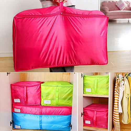 Clothes Bedclothing Duvet Pillows Zipper Storage Bag Box Hand Handles Luggage