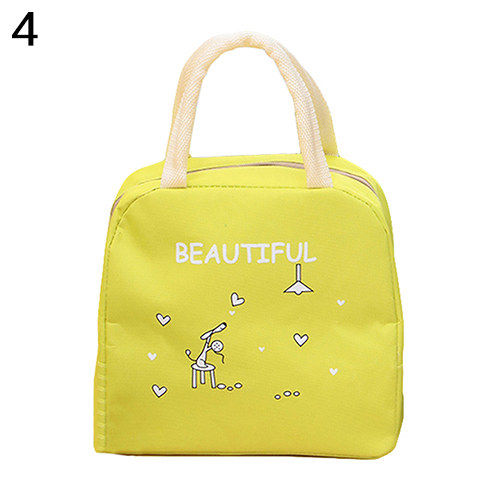Portable Cute Cartoon Thermal Insulated Food Fruit Storage Case Pouch Lunch Box
