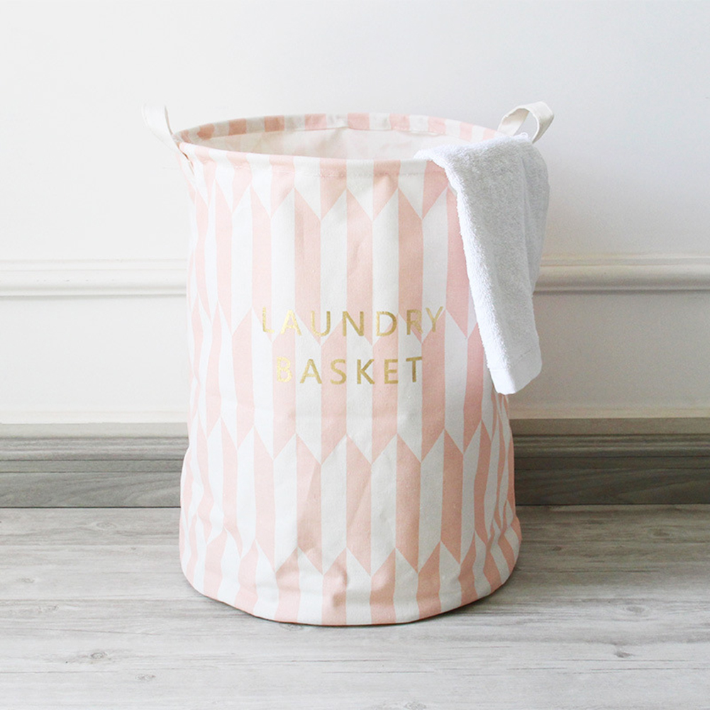 Stylish Foldable Storage Laundry Hamper Clothes Basket Home Cleaning Supplies