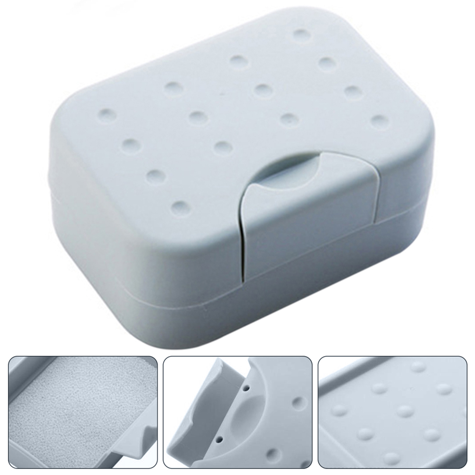 Dual Purpose Travel Portable Waterproof Seal up Soap Case Box Holder Container