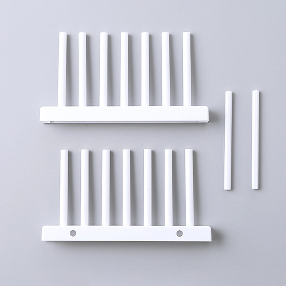 Kitchen Dish Plate Pot Cover Drying Drain Holder Plastic Storage Rack Shelf