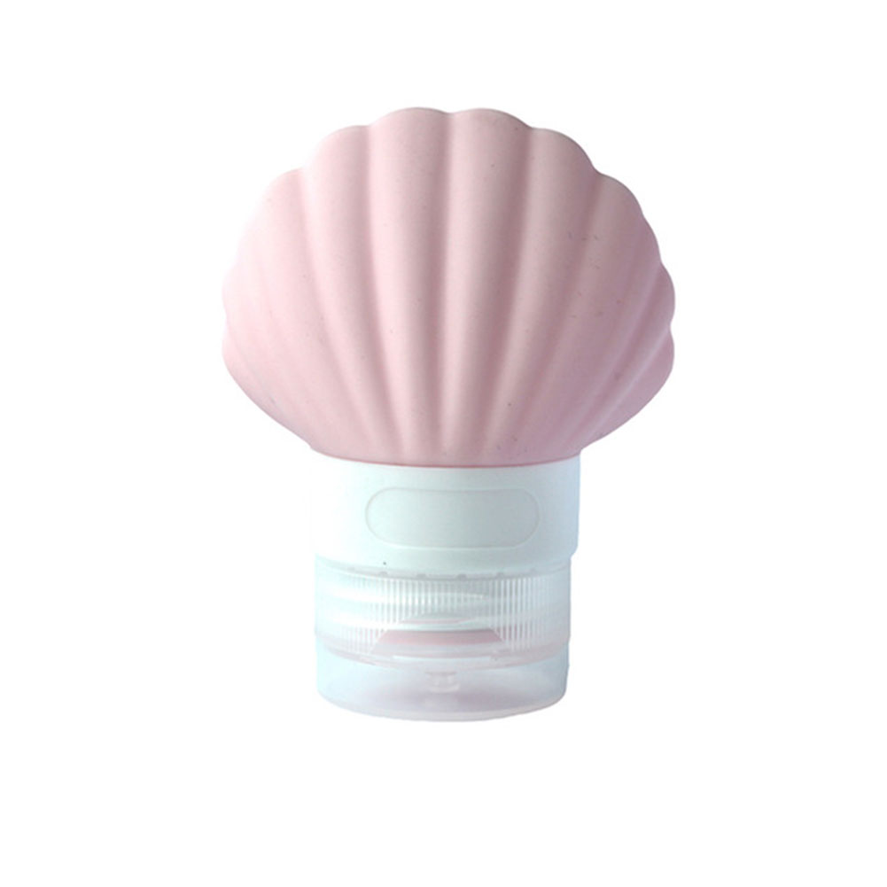 Lovely Shell Shape Silicone Travel Bottle Lotion Bath Shampoo Empty Container