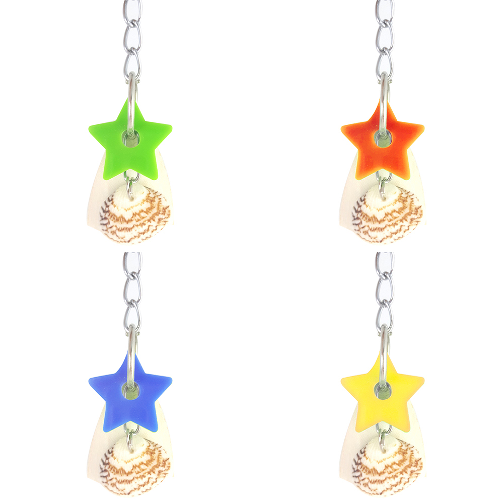 Star Shell Cuttlebone Parrots Bird Hanging Swing Pet Play Biting Chewing Toy