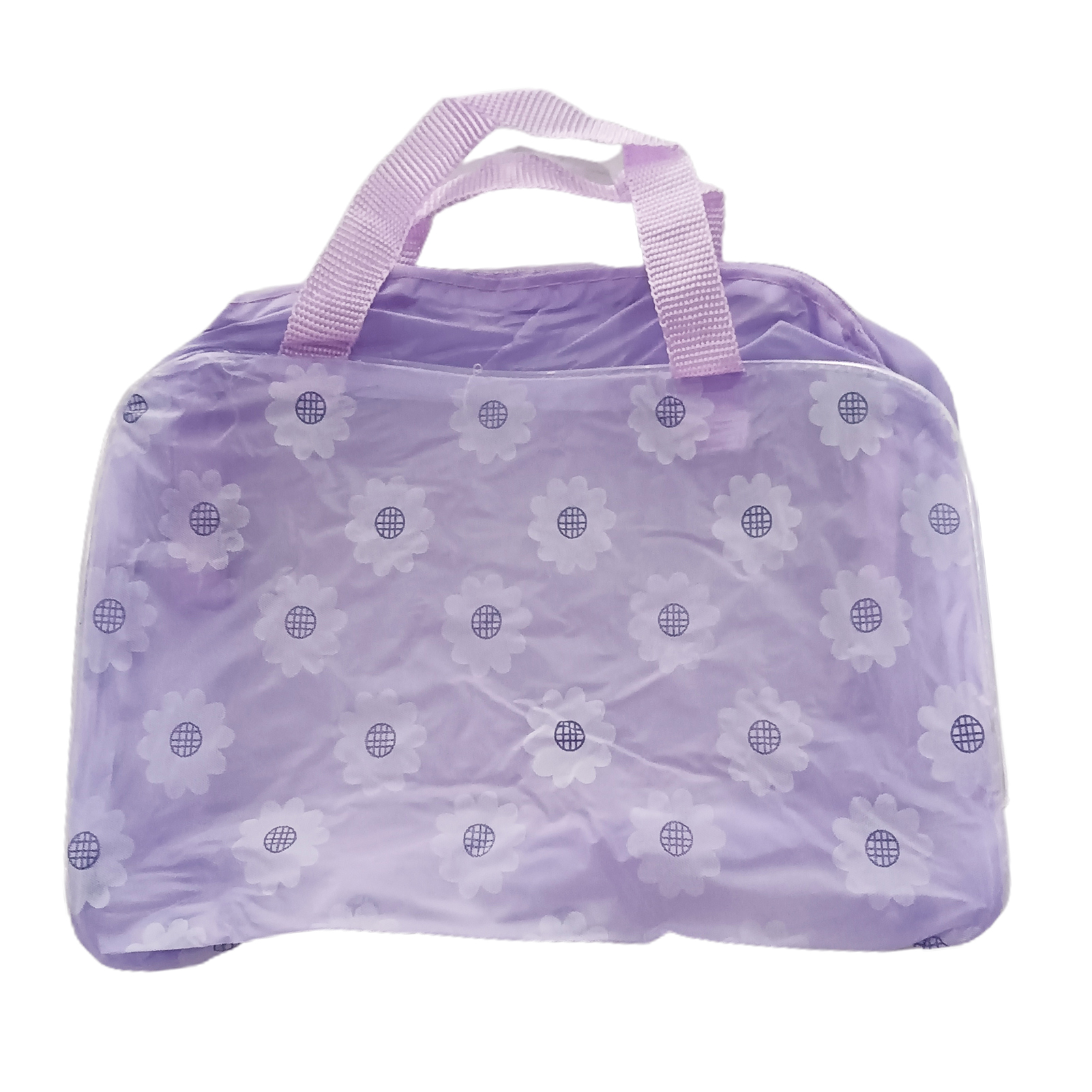 Portable Flower Waterproof Travel Cosmetic Toiletry Storage Pouch Makeup Bag