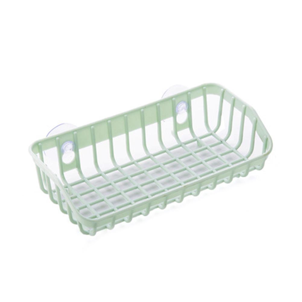 Kitchen Gadget Dual Suction Cup Drainage Shelf Dish Sponge Storage Rack Holder