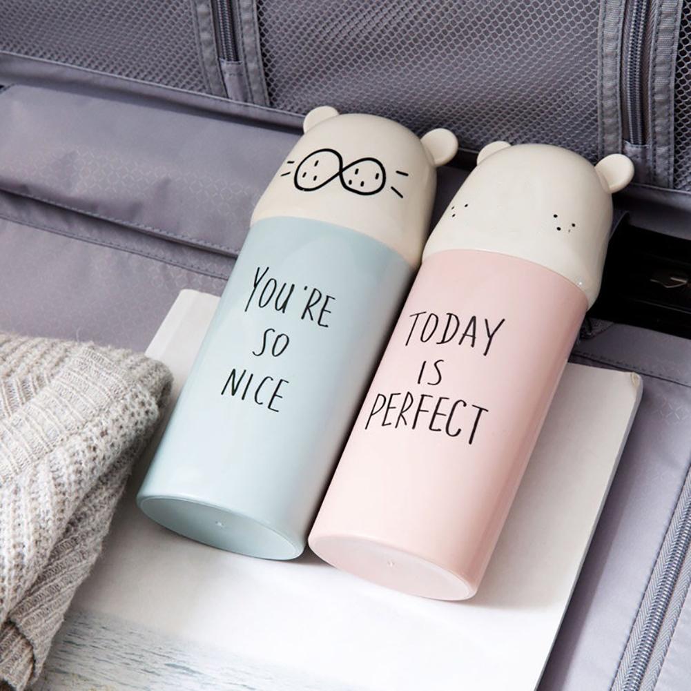 Portable Travel Bathroom Cartoon Water Cup Mug Toothbrush Toothpaste Holder