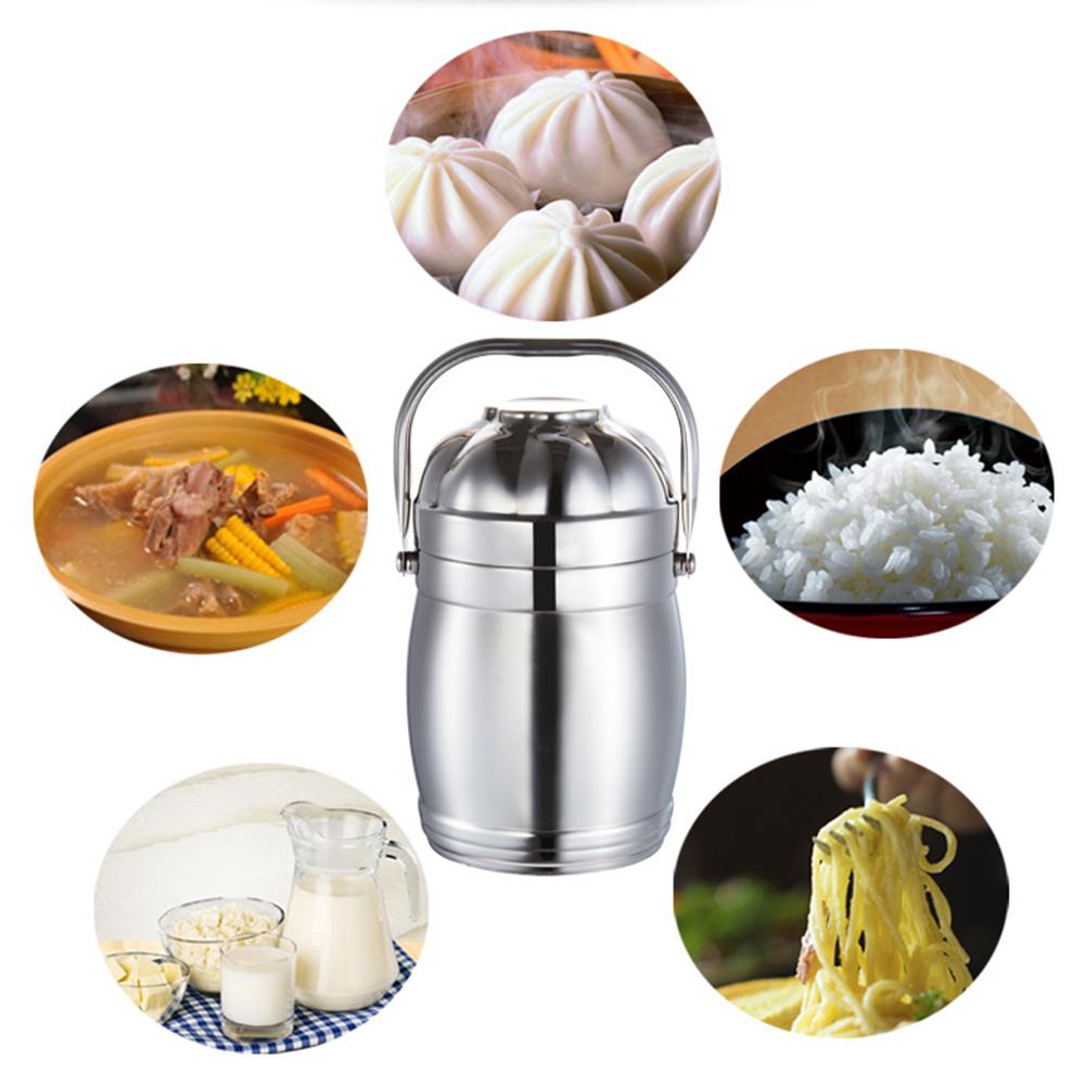 Multi-layer Leak-Proof Stainless Steel Vacuum Insulated Barrel Bento Lunch Box