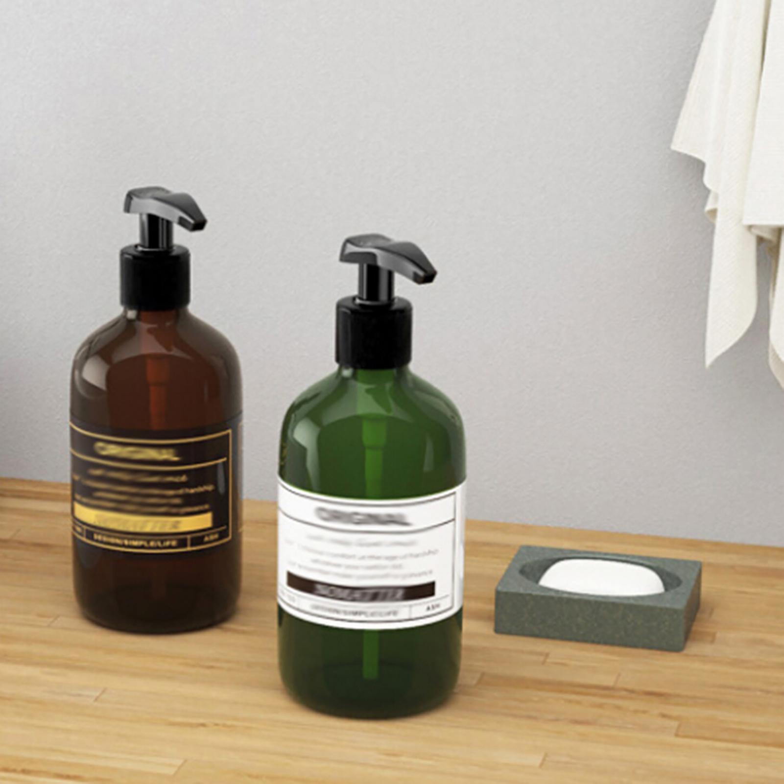 500ml Refillable Bottle Press Pump Shampoo Soap Lotion Makeup Liquid Dispenser