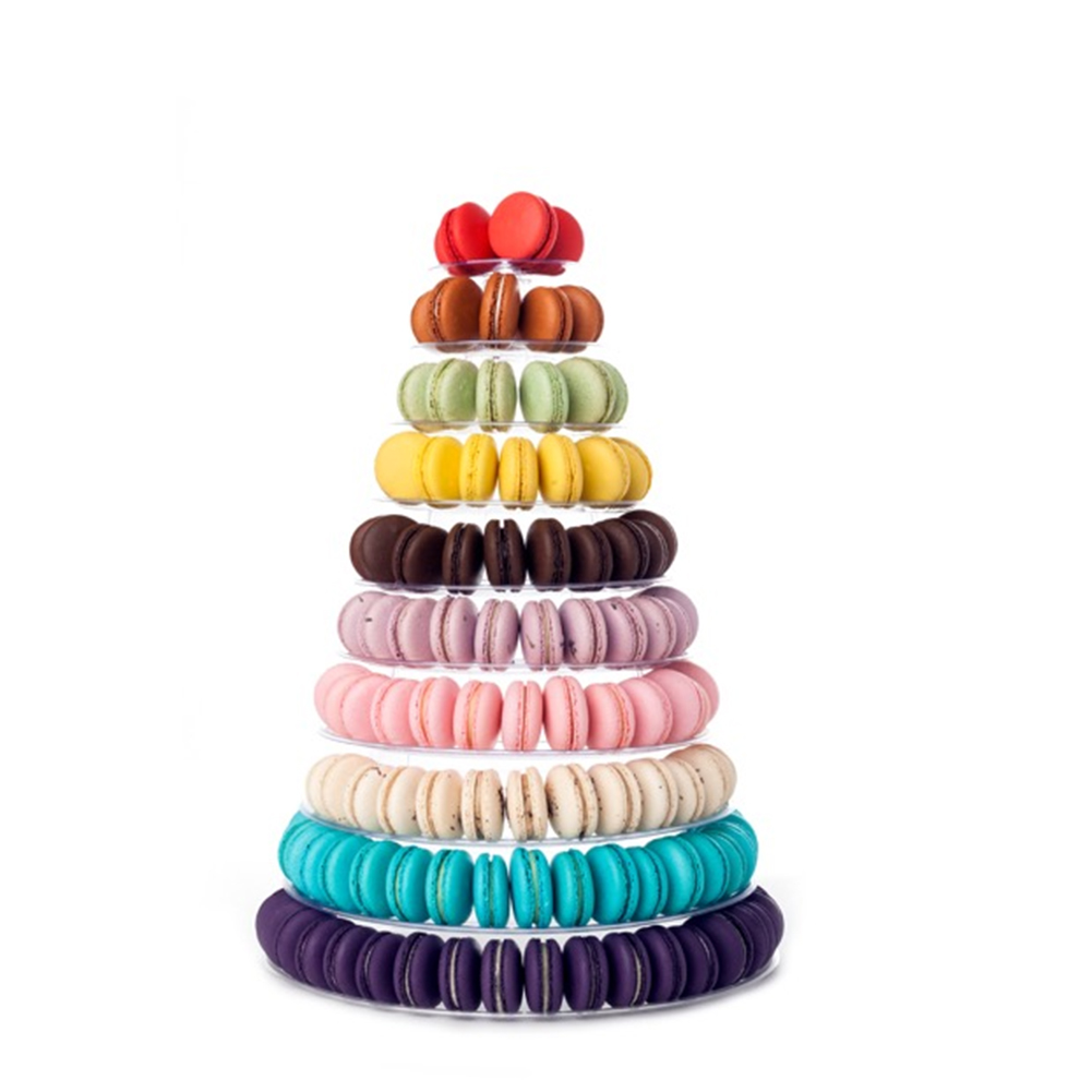 4-6-8-9-10-13-Tier-Clear-Macaron-French-Macaroons-Tower-Display-Stand-Rack-Prope thumbnail 8