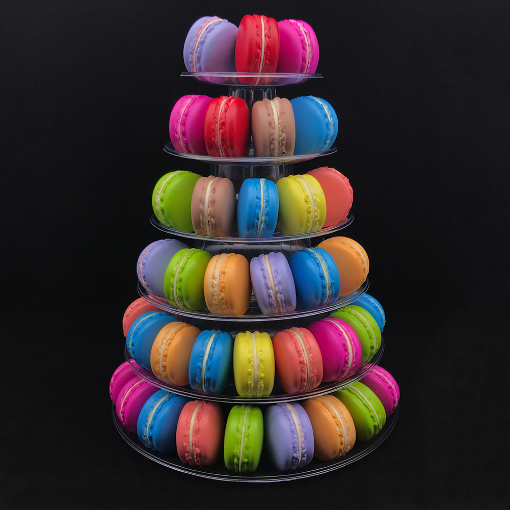 4-6-8-9-10-13-Tier-Clear-Macaron-French-Macaroons-Tower-Display-Stand-Rack-Prope thumbnail 2