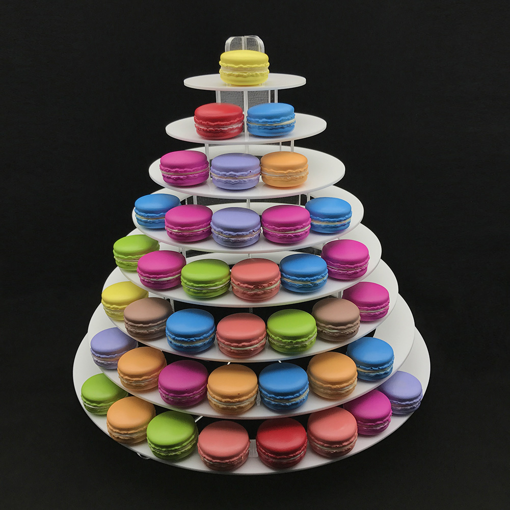 4-6-8-9-10-13-Tier-Clear-Macaron-French-Macaroons-Tower-Display-Stand-Rack-Prope thumbnail 10