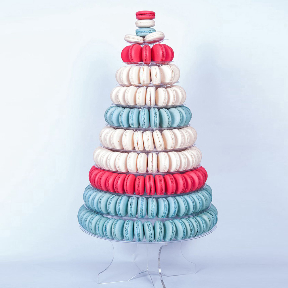 4-6-8-9-10-13-Tier-Clear-Macaron-French-Macaroons-Tower-Display-Stand-Rack-Prope thumbnail 3