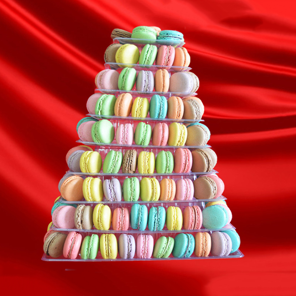 4-6-8-9-10-13-Tier-Clear-Macaron-French-Macaroons-Tower-Display-Stand-Rack-Prope thumbnail 5