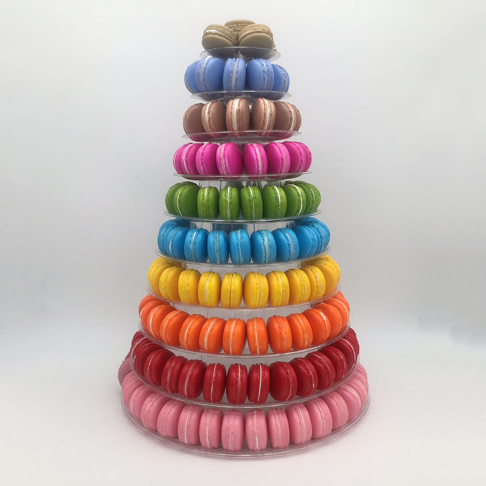 4-6-8-9-10-13-Tier-Clear-Macaron-French-Macaroons-Tower-Display-Stand-Rack-Prope thumbnail 7