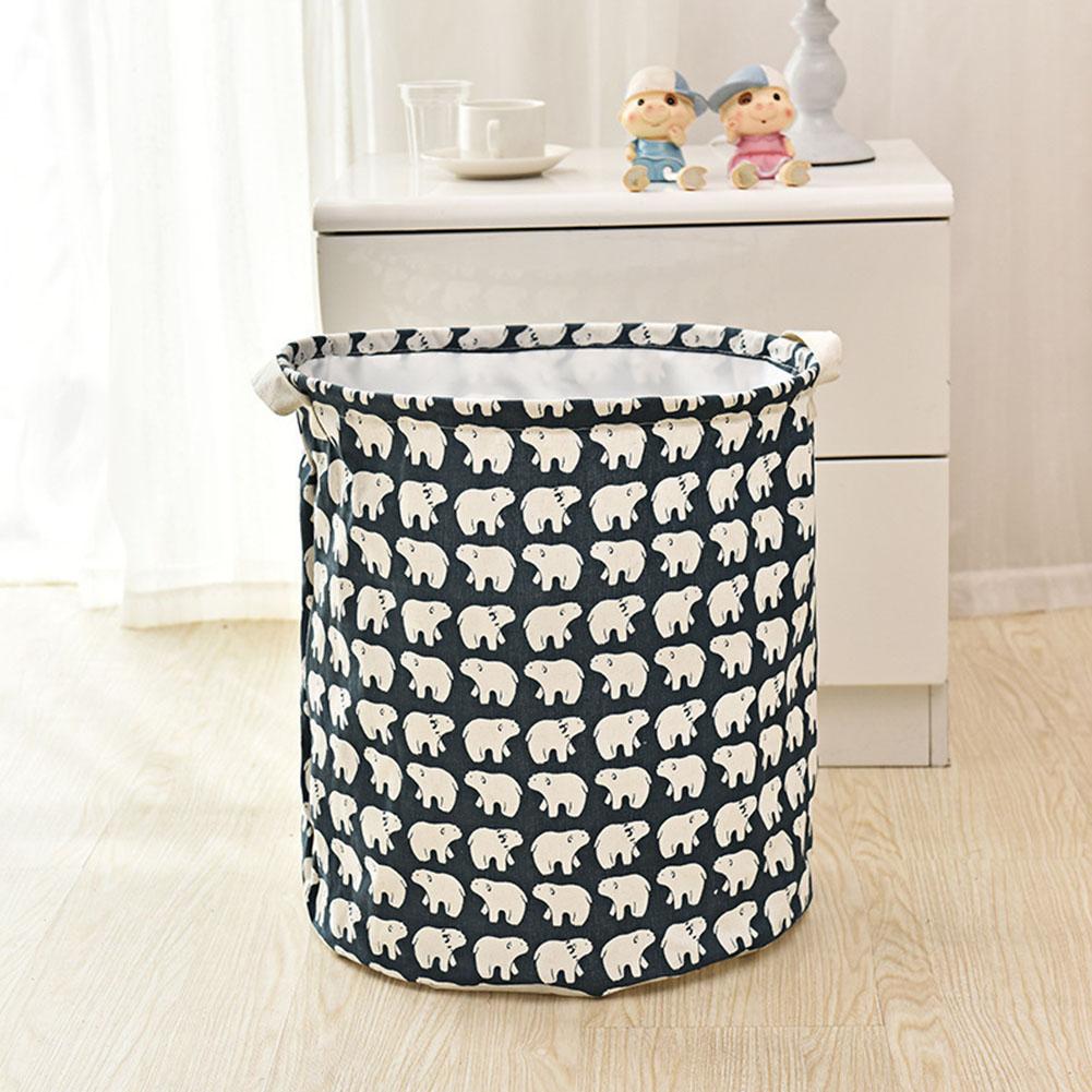Bear Waterproof Laundry Clothes Storage Basket Foldable Organizer Box Pouch