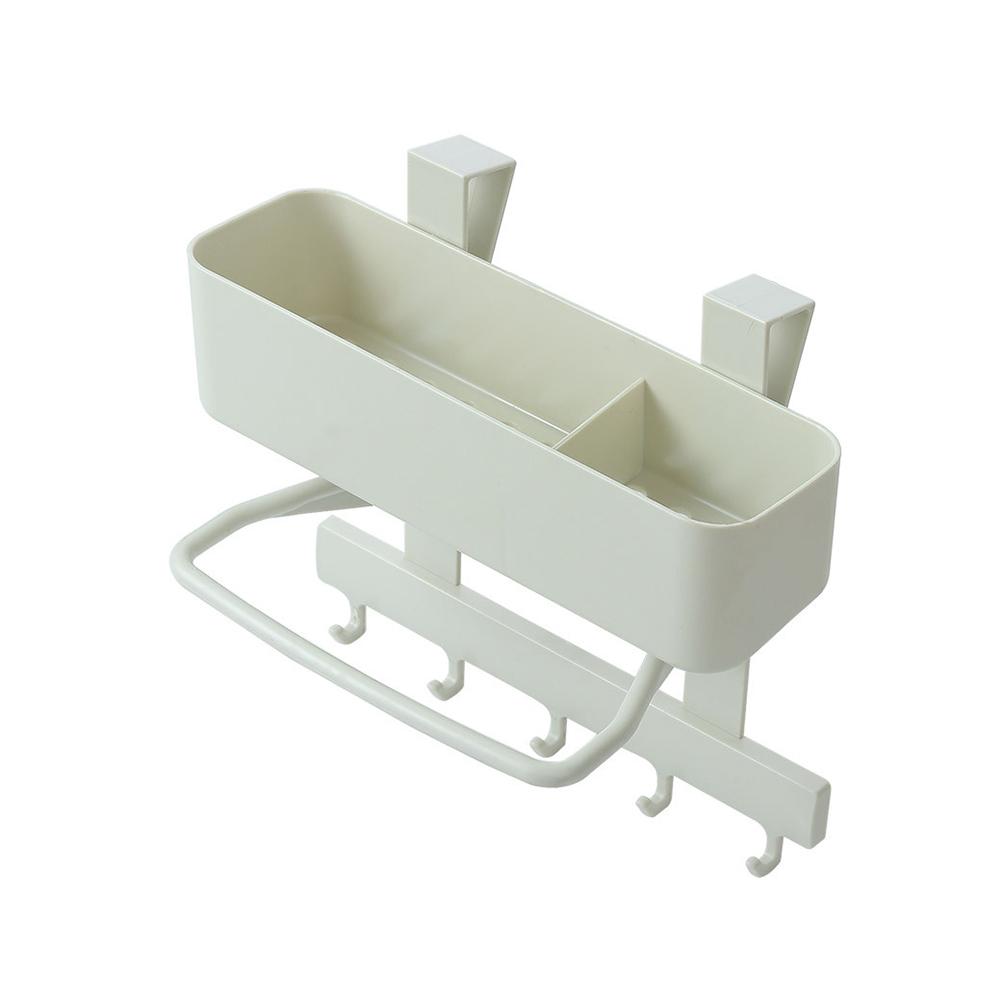 Kitchen Sink Sponge Brush Duster Cloth Storage Rack Soap Holder Hooks Organizer
