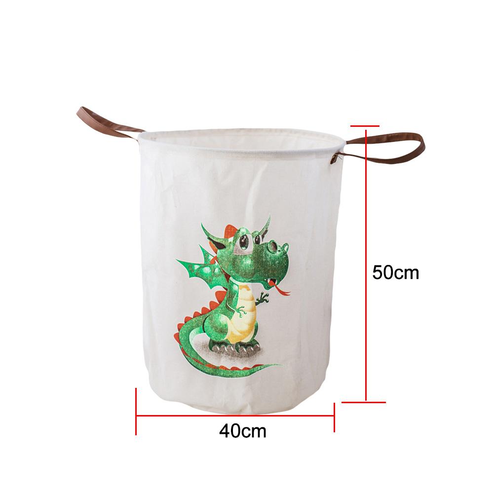 Cute Animal Print Waterproof Folding Toy Laundry Clothes Organizer Storage Basket