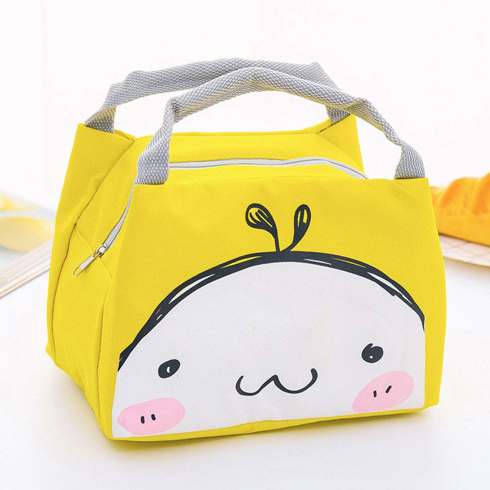Cartoon Lunch Tote Bag Insulated Thermal Cooler Portable Picnic Bento Box Pouch