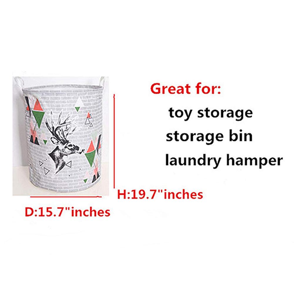 Folding Cute Cartoon Animal Toys Clothes Laundry Holder Organizer Storage Bucket
