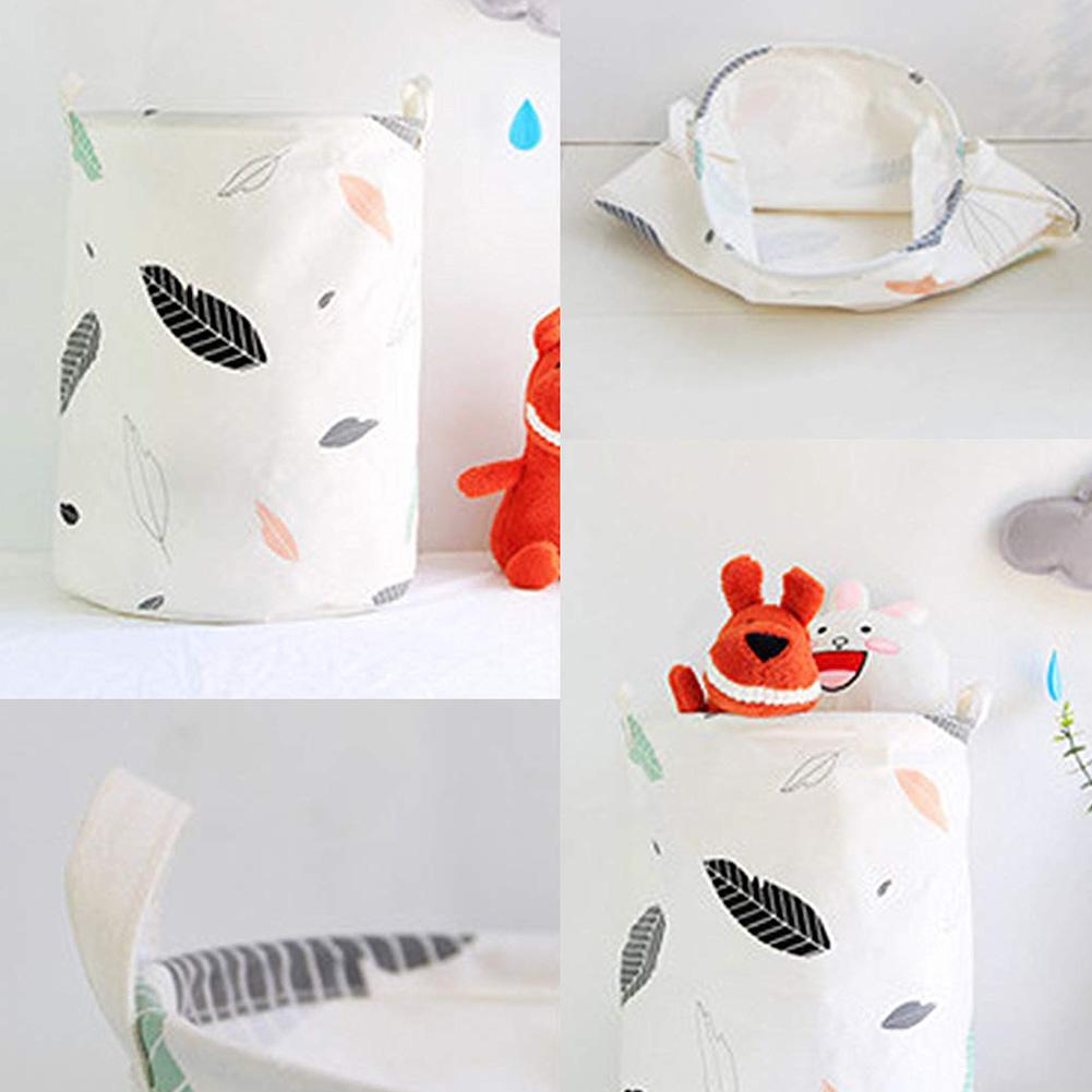 Waterproof Folding Sundries Toys Clothes Laundry Bucket Organizer Storage Basket