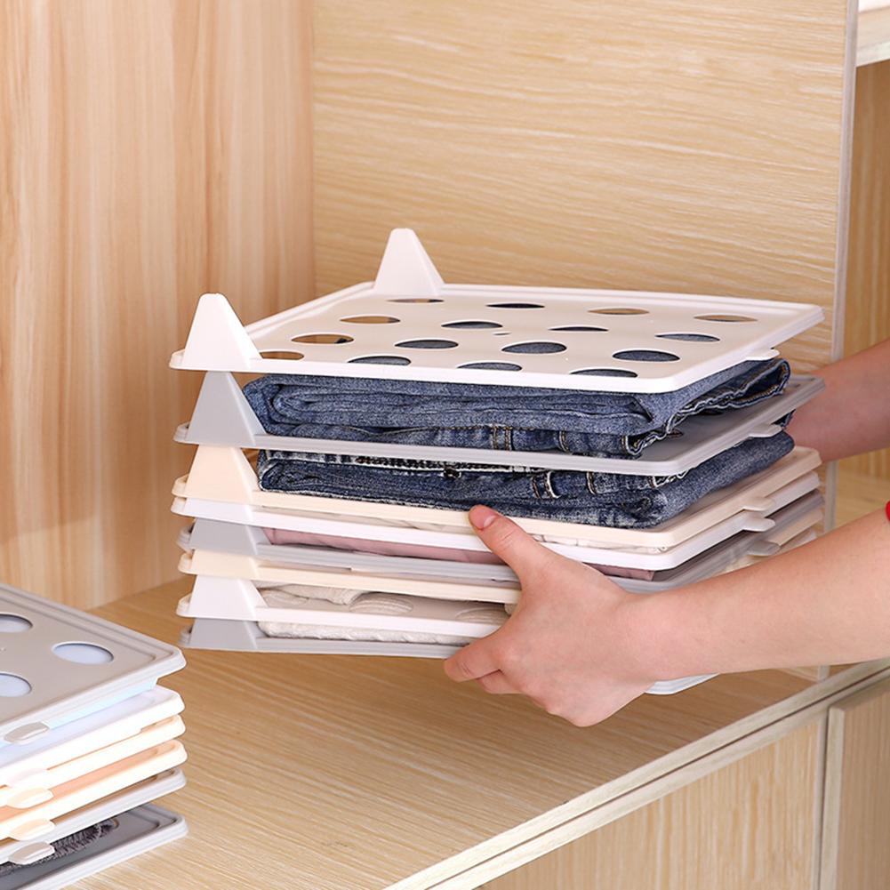 3Pcs Household Clothes Folding Board T-Shirt Storage Rack Laundry Organizer