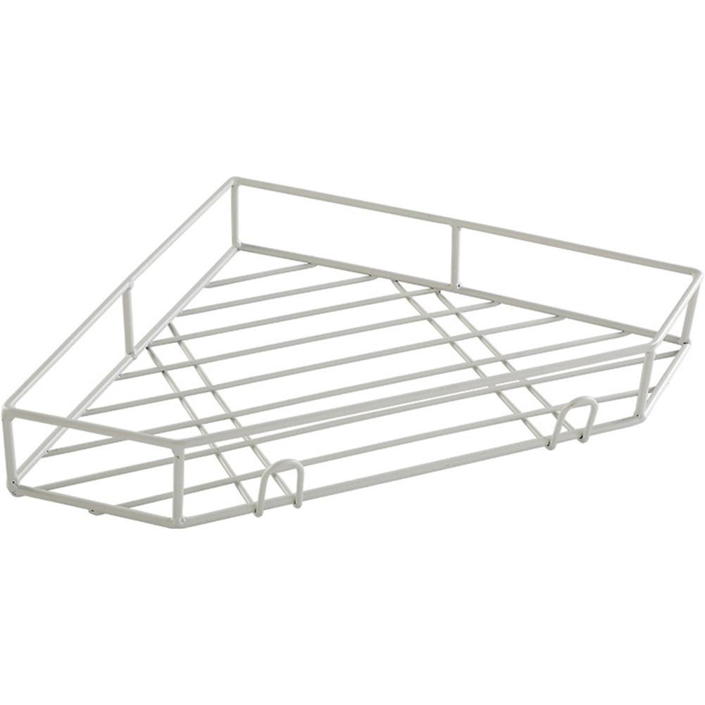 Adhesive Triangular Wall Corner Storage Rack Holder Home Bathroom Kitchen Shelf