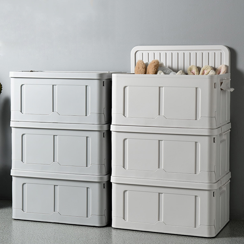 Home Foldable Plastic Clothes Socks Sundries Toy Storage Box Container Organizer