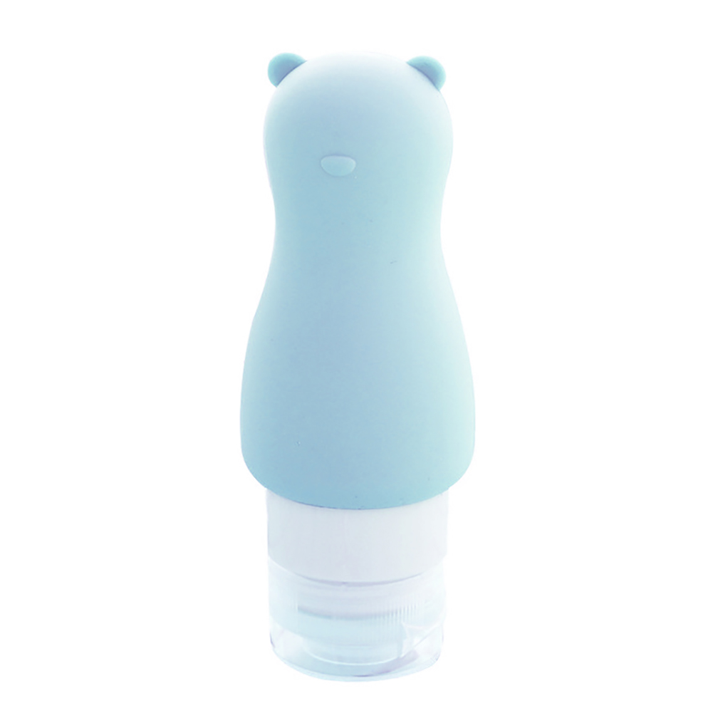 90ml Cartoon Animal Silicone Shampoo Shower Gel Hand Lotion Empty Travel Bottle
